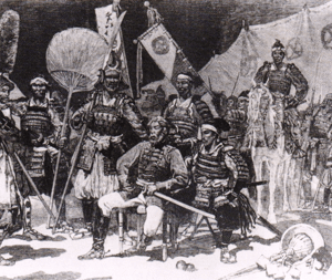 Saigō Takamori and his officers