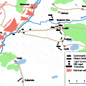 Positions prior to the battle of Wizna