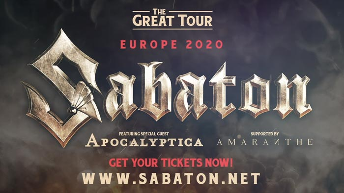 Sabaton announce European tour dates for 2020