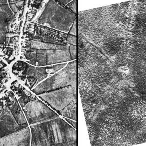The village of Passchendaele: before (left) and after (right) the battle