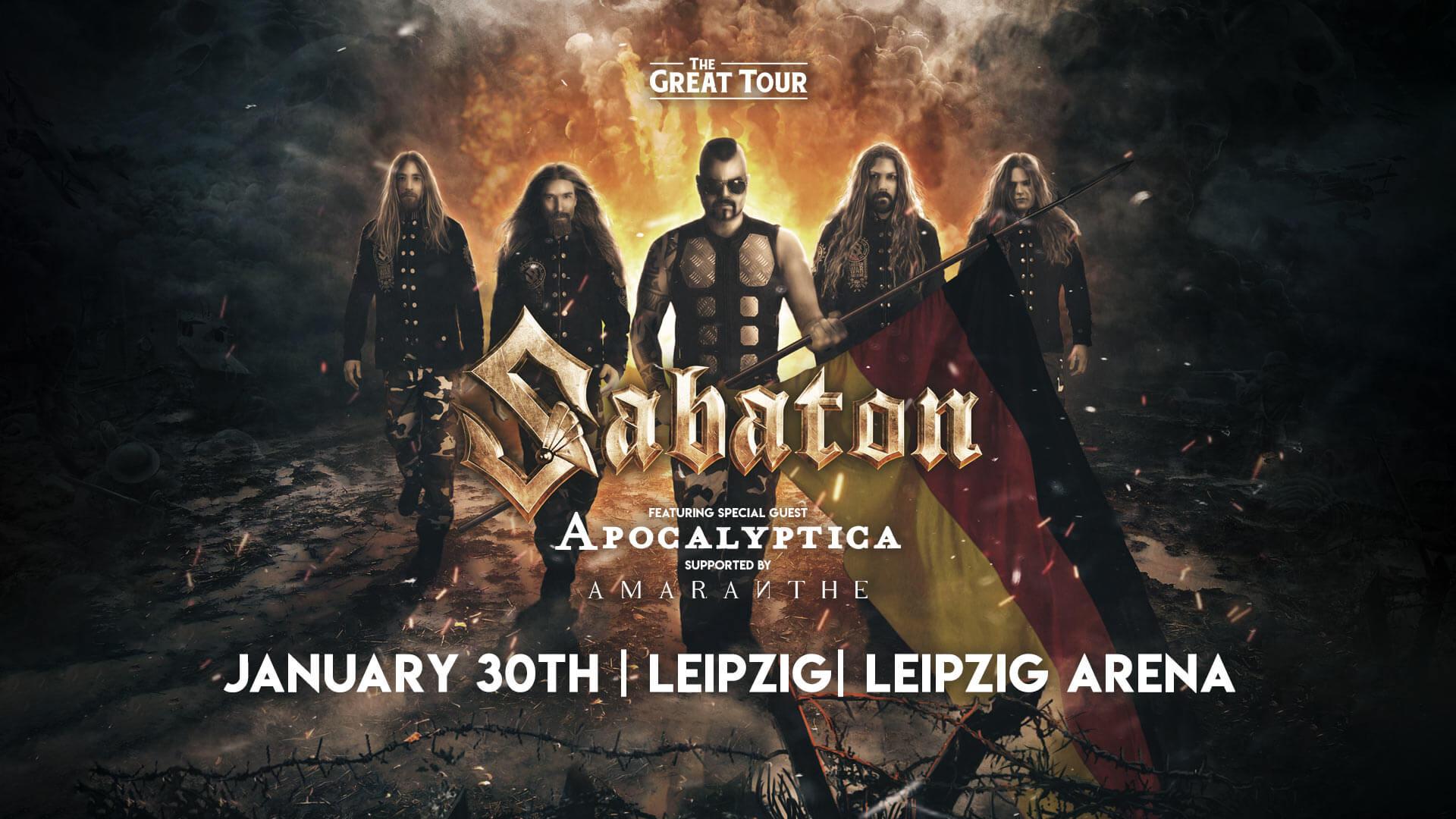 Sabaton Live in Leipzig - January 30th 2019, Leipzig Arena