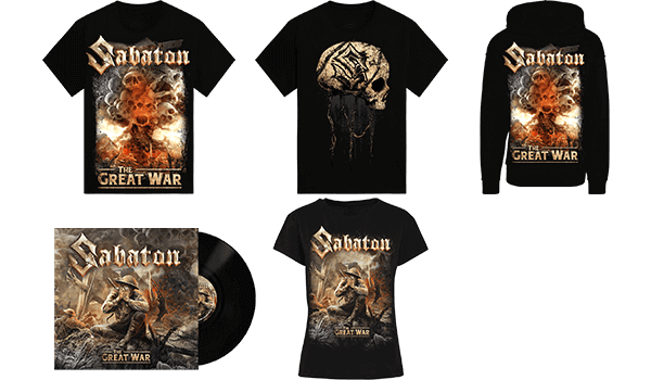 Sabaton Merchandise inspired by The Great War album era