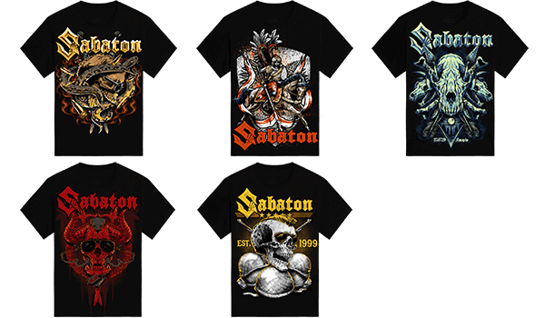 Sabaton Unisex Merchandise from the European Tour 2019