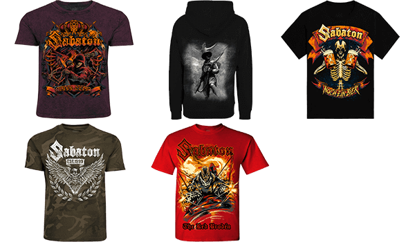 New Unisex Merchandise at the Sabaton Store