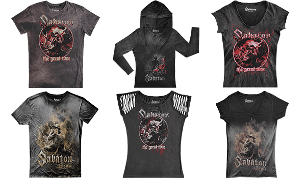 Sabaton Merchandise New Vintage Collection