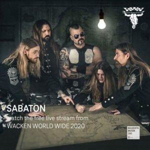 Sabaton performing at the Wacken World Wide 2020