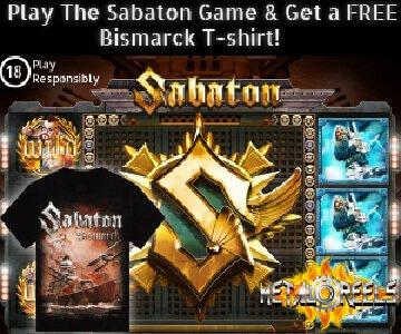 Sabaton Casino Game Banner