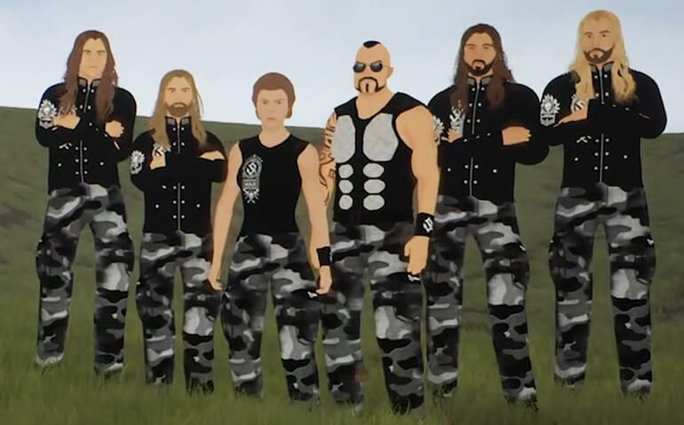 Sabaton release new animated story video for Night Witches