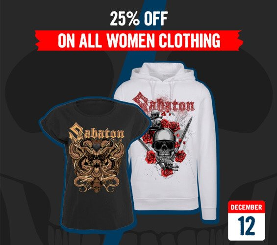December 12 - 25% OFF on Women Clothing