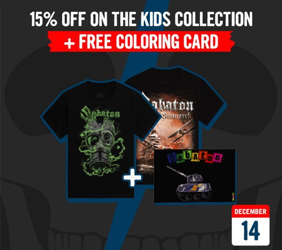 December 14 – 15% OFF on the Kids Collection + Free Coloring Card