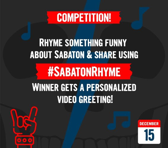 December 15 - Rhyme Competition – Win a Personalized Video