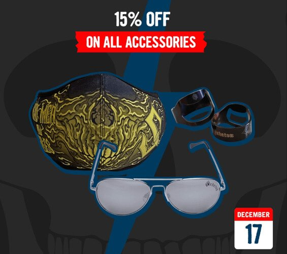 December 17 – 15% OFF on All Accessories