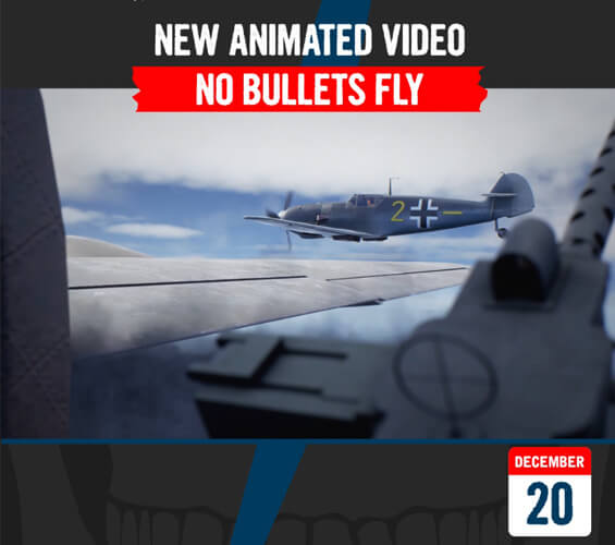 December 20 - New Animated Video - No Bullets Fly