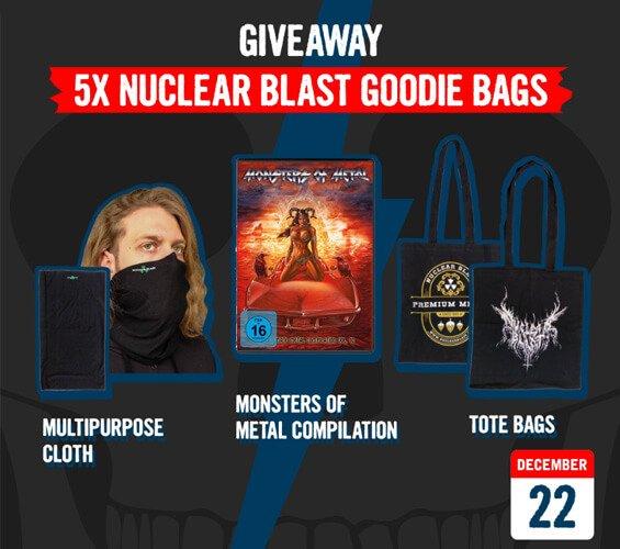December 22 – Giveaway: Nuclear Blast Goodie Bags