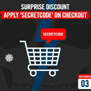 December 3 – Surprise Discount – Use SECRETCODE on checkout