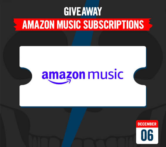 December 6 – Giveaway - Amazon Music Subscription Codes