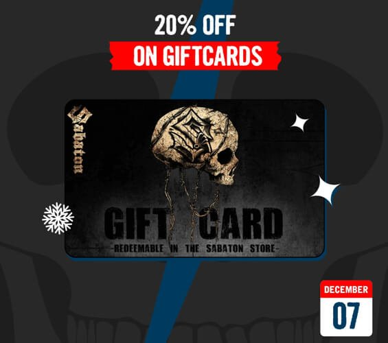 December 7 – 20% OFF on Giftcards