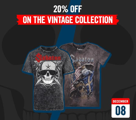 December 8 – 20% OFF on the Vintage Collection