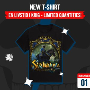 December 1 - New T-shirt: En Livstid i Krig - Limited Quantities!