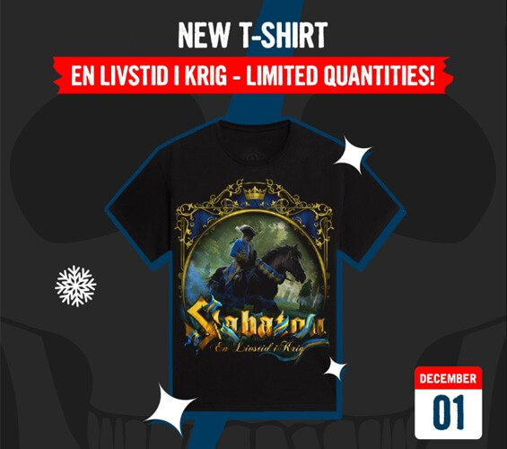 December 1 - New T-shirt: En Livstid i Krig - Limited Quantities!