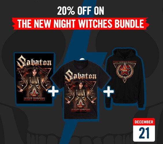December 21 - 20% OFF on the new Night Witches Bundle