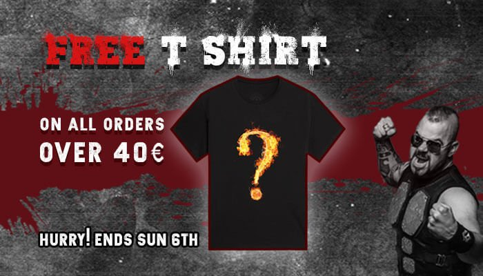 Free T-shirt with all order over €40 at the Sabaton Store