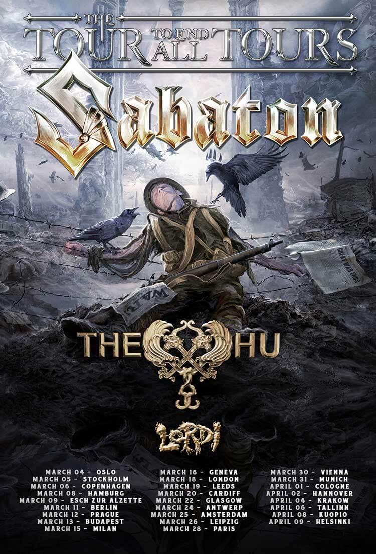 Sabaton's The Tour To End All Tours Full Poster