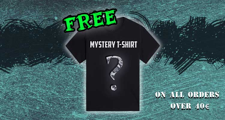 Free T-shirt with every order over 40€