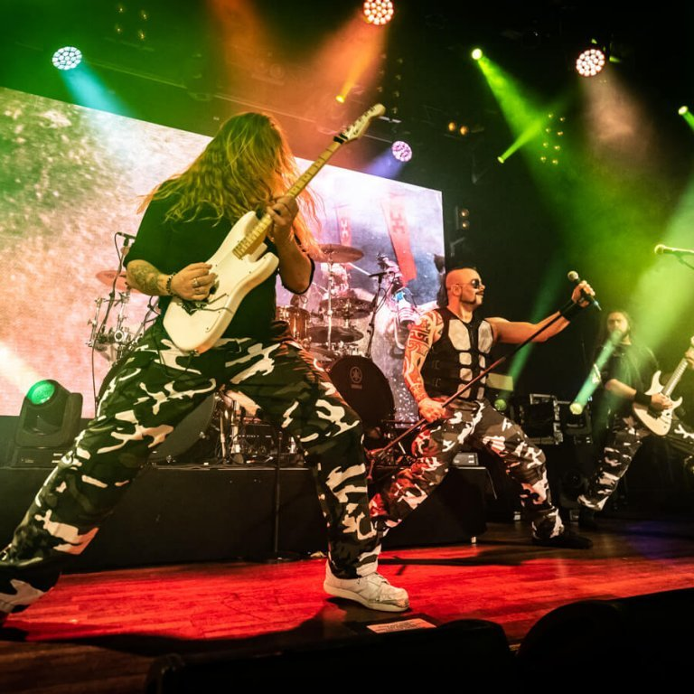 Sabaton played two high-energy sets onboard