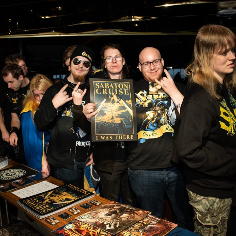 Hundreds of fans were able to meet Sabaton